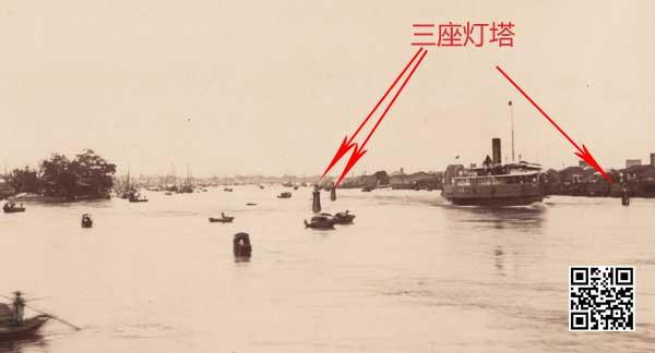 1870年代珠江上灯塔