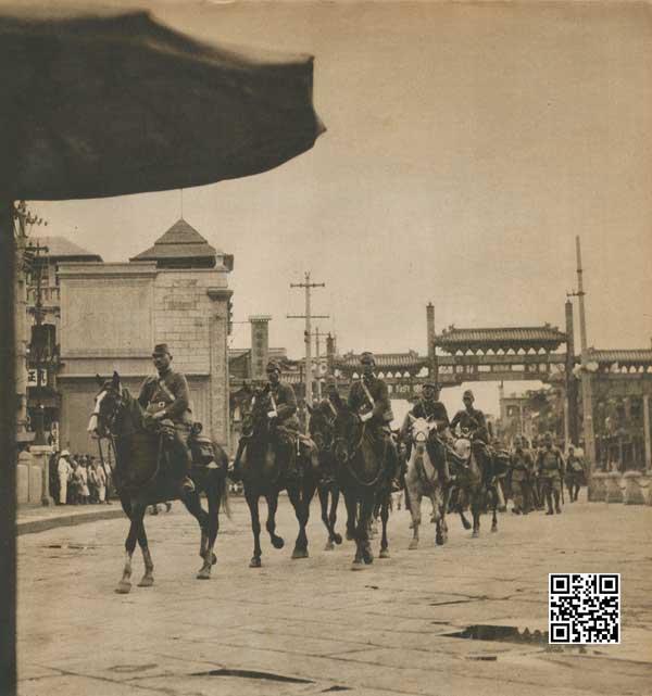 1937年8月8日日军通过正阳门桥