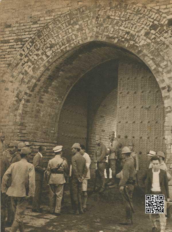 1937年8月1日日军把守的广安门