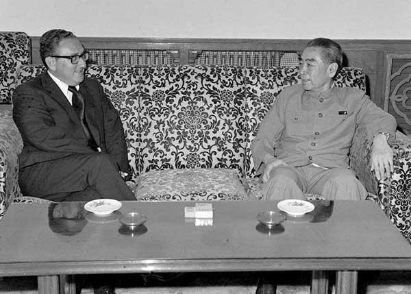 基辛格和周总理会谈