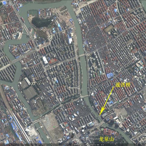 Google Earth里的余姚老城