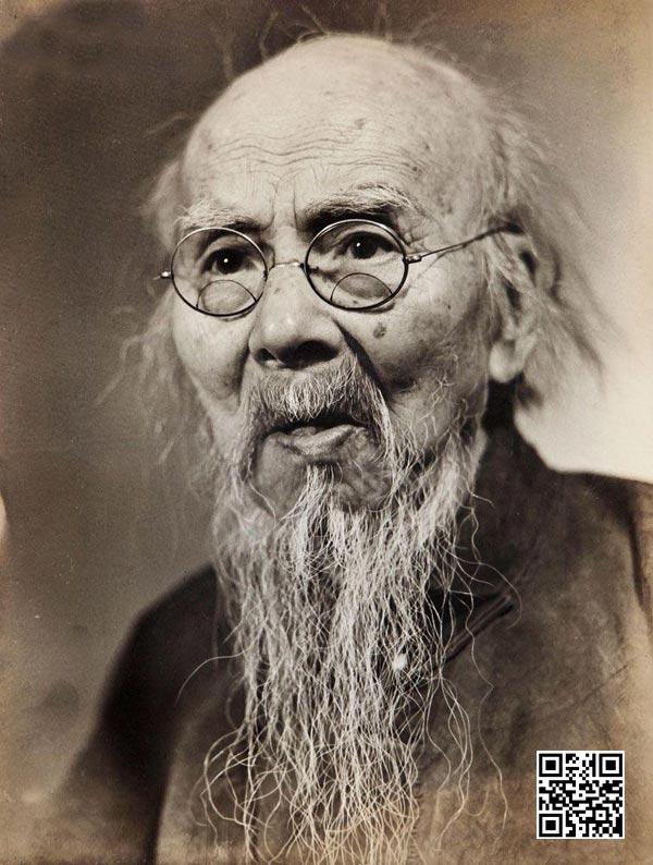 郑景康拍摄的非常少见一张齐白石肖像