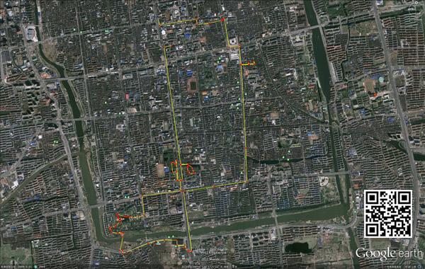 上次步行苏州的路线图