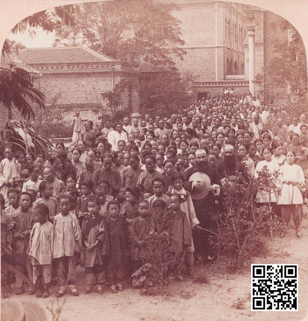 1900年在紫竹林教堂避难的教民