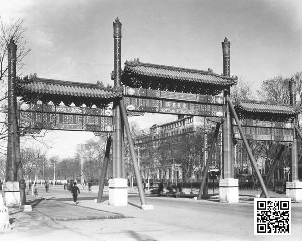 佚名摄1930年代东长安街牌楼