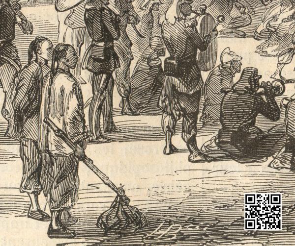 法军占领圆明园后园内的中国人