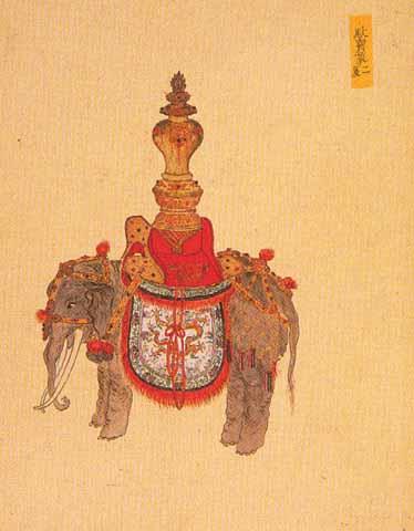 绘画中的卤簿宝象